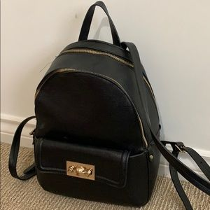 Small black Zara backpack